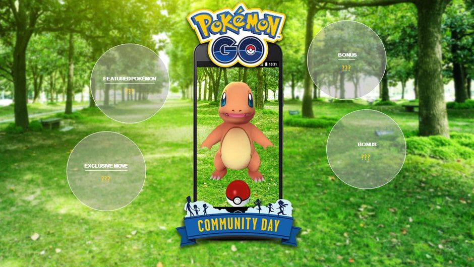 Spoof of a smartphone outside that can apparently catch a Charmander.