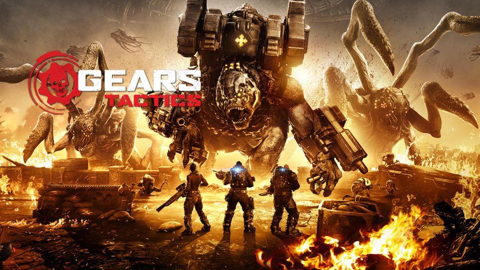 Gears Tactics artwork showing a huge beast