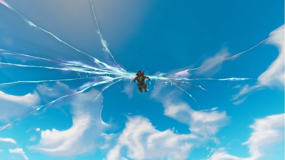 A mysterious crack that appeared on the sky in Fortnite