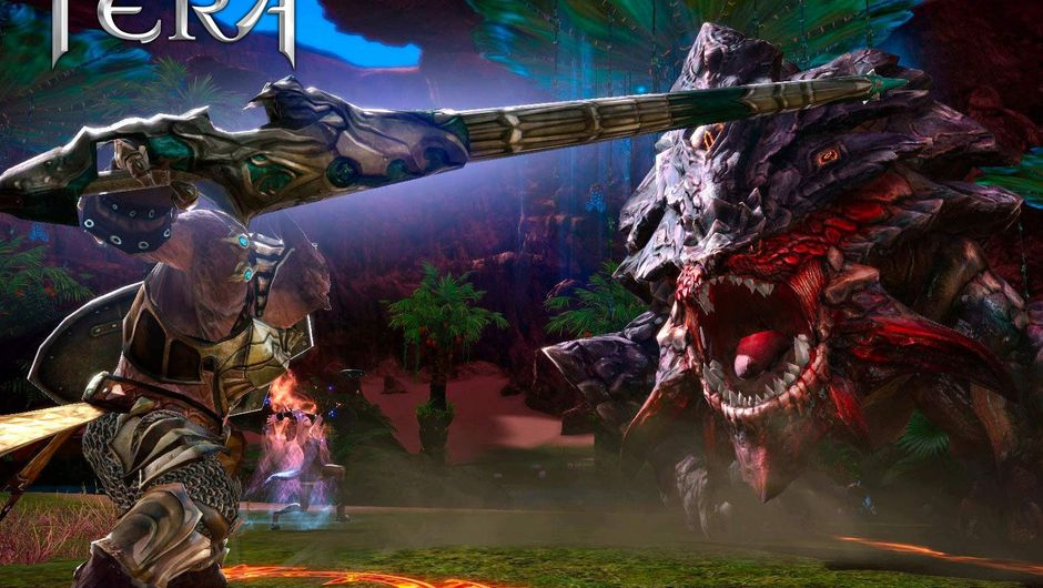 Player is fighting a giant monster in TERA
