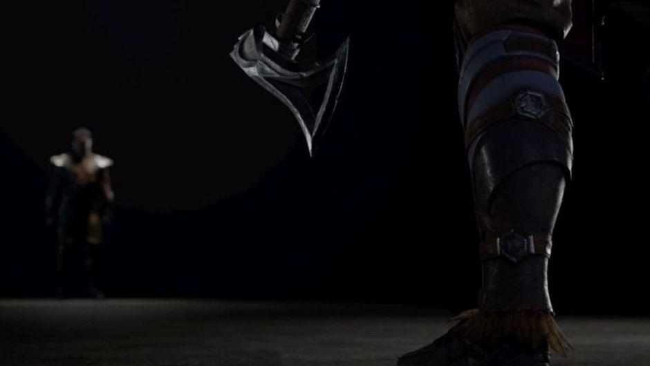 mortal kombat 11 screenshot showing nightwolf's tomahawk and scorpion