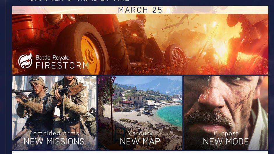 Slide showing Battlefield V's 2019 roadmap, part 2