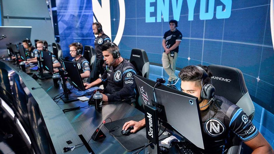 EnVyUs CS:GO roster during a match