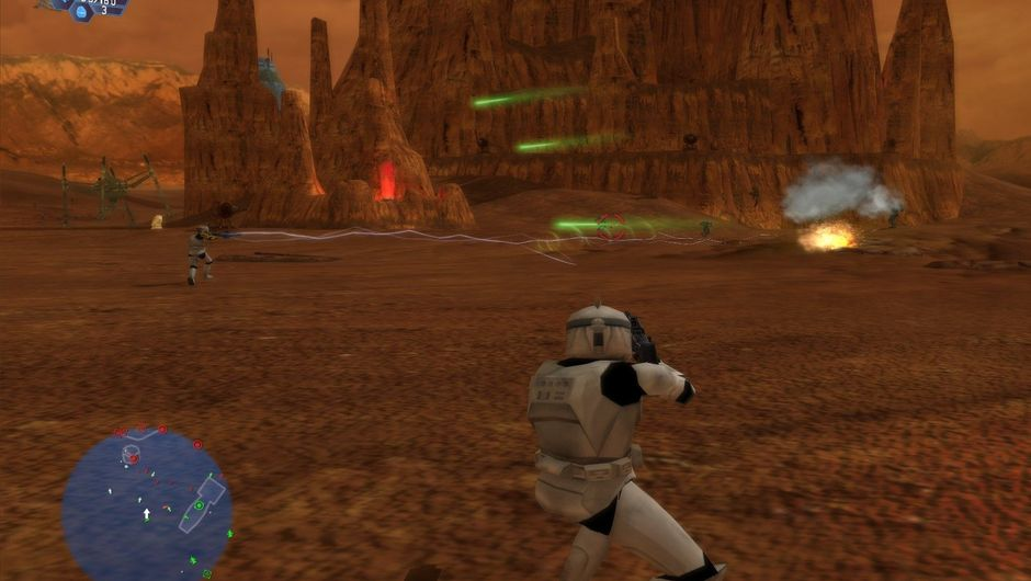 Picture of storm troopers in a desert in Star Wars Battlefront