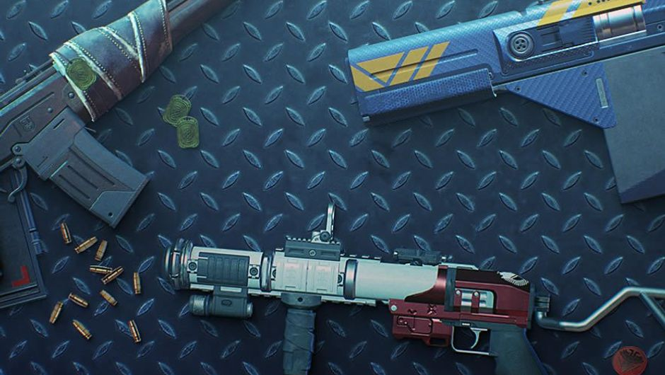 Picture of some weapons in Destiny 2