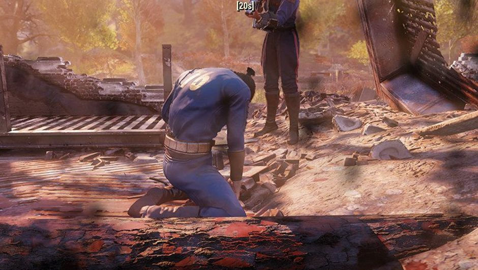 Picture of a downed player in Fallout 76