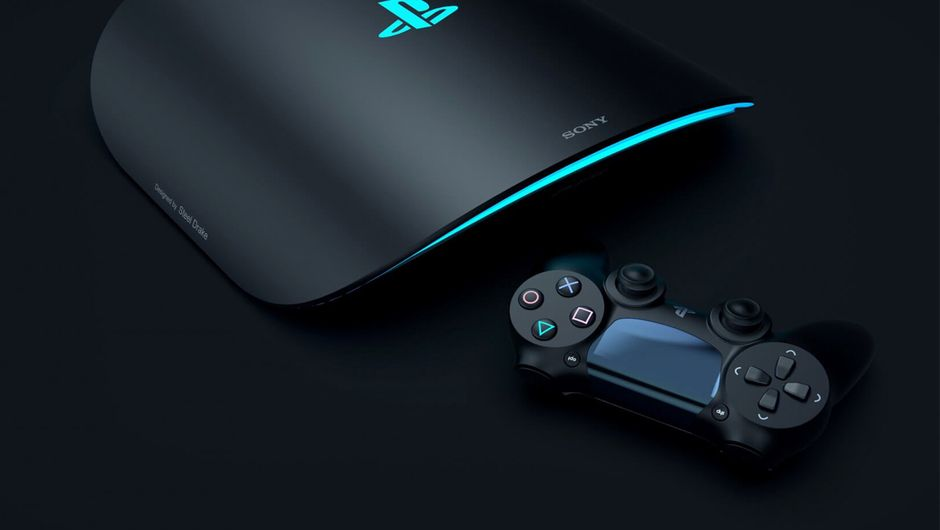 artwork showing PS5 concept design