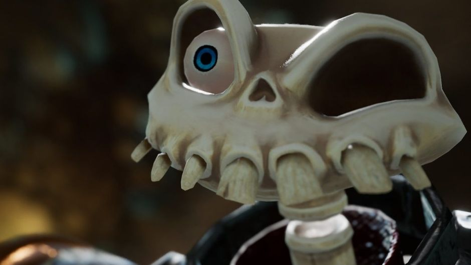 medievil screenshot showing a skeleton with one eye