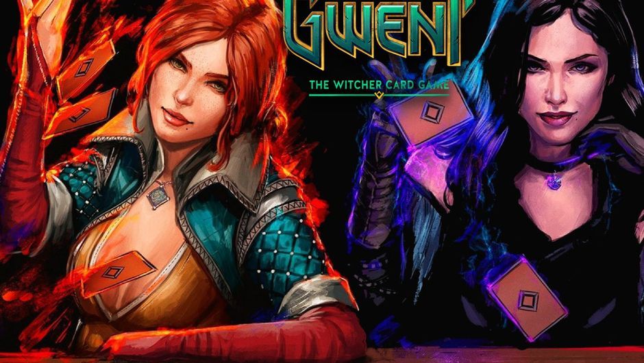 Yennefer and Triss are playing GWENT to determine who gets Geralt.
