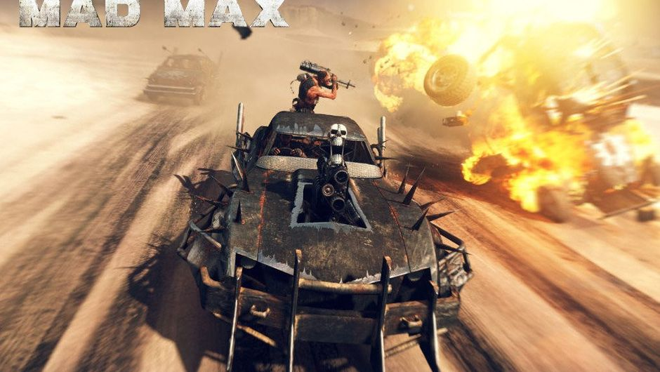 People are racing and fighting in heavily modified cars in Mad Max.