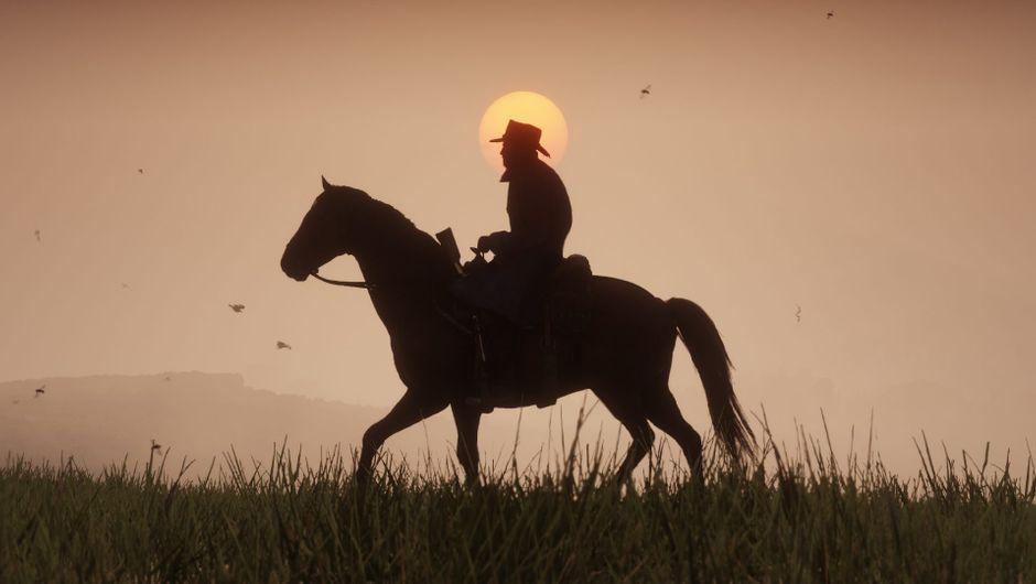 On horseback into the sunset