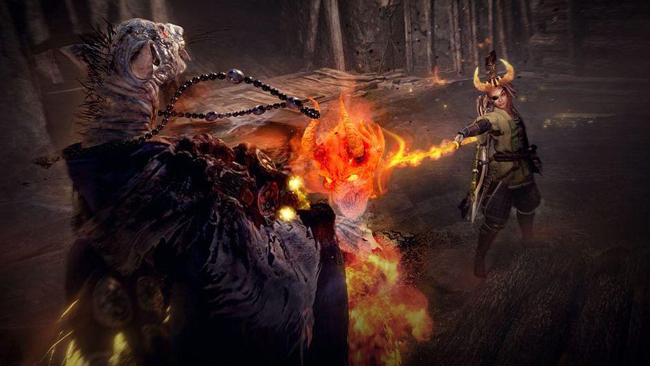 nioh 2 screenshot showing combat