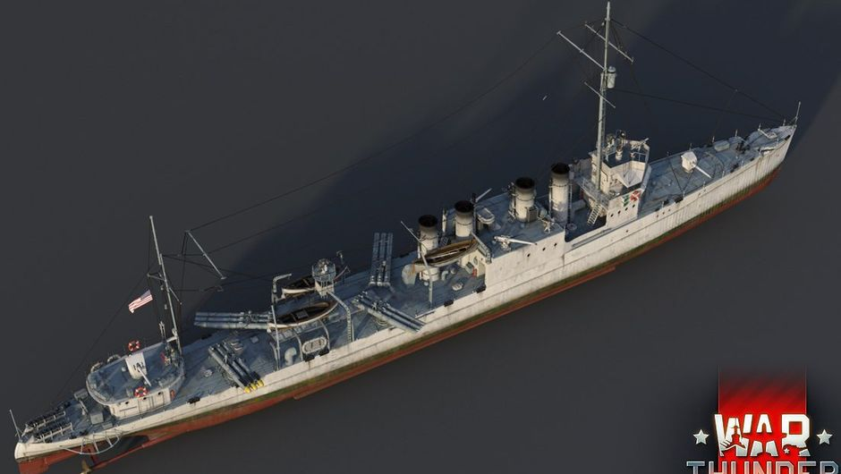 A picture of the USS Barker, a new ship that's coming to War Thunder