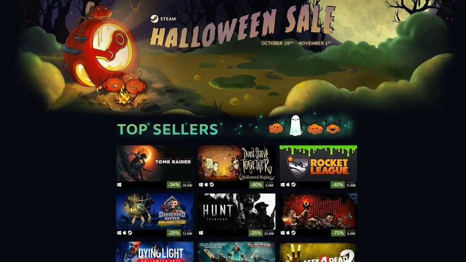 Picture showing discounted games in steam store