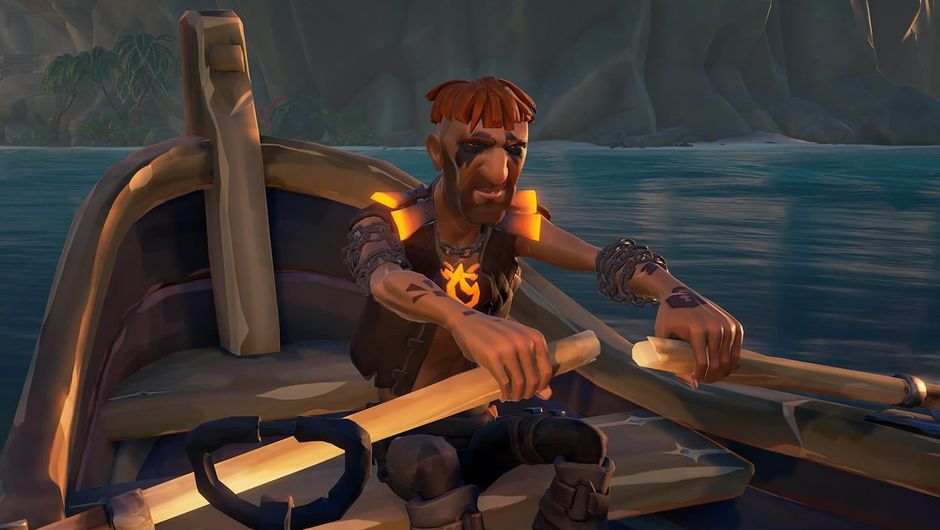 Snapshot from Rare's teaser for Sea of Thieves: Forsaken Shores