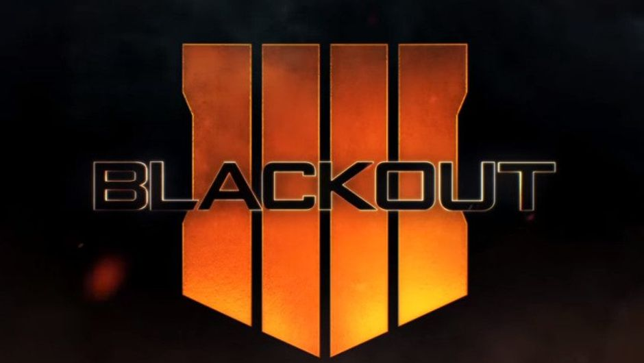 Picture of Call of Duty Black Ops 4 logo with Blackout printed over it