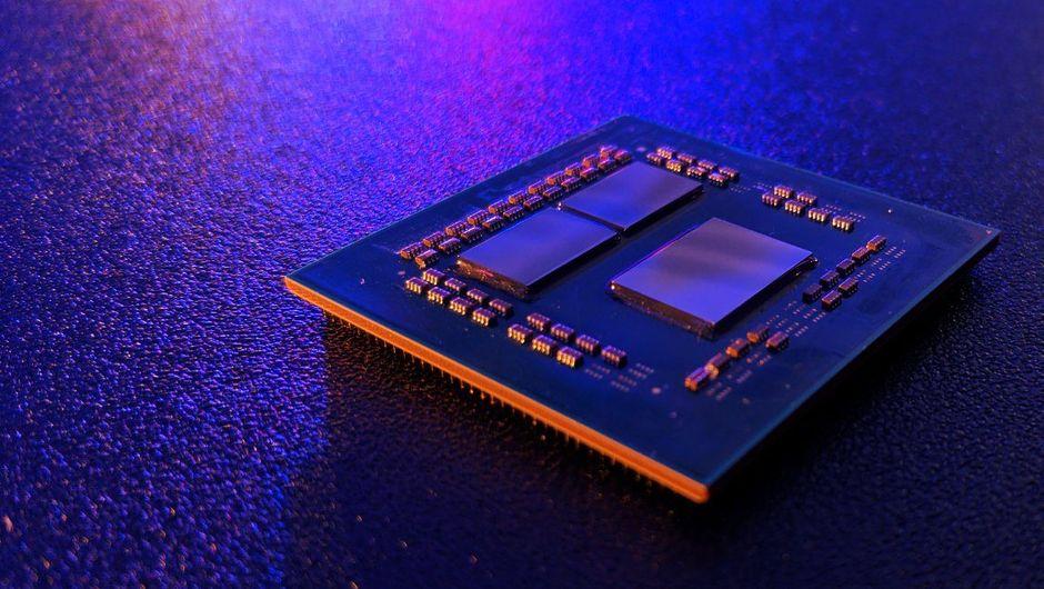 photo showing amd's new ryzen chip