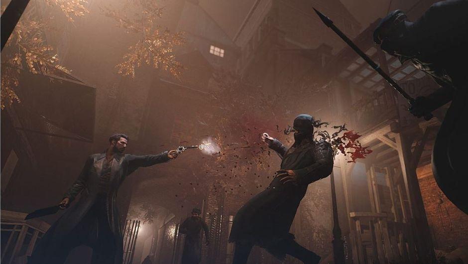 Dr Reid is shooting someone in the head in Vampyr