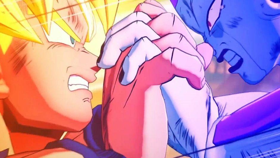 Super Saiyan Goku versus Frieza in Dragon Ball Z: Kakarot.