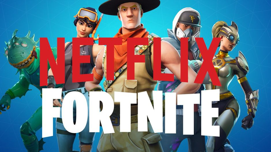 picture showing netflix and fortnite logo and four characters