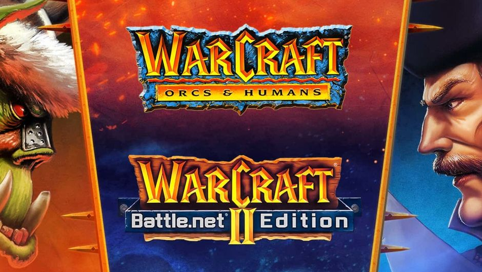 Promotional image for the classic Warcraft games