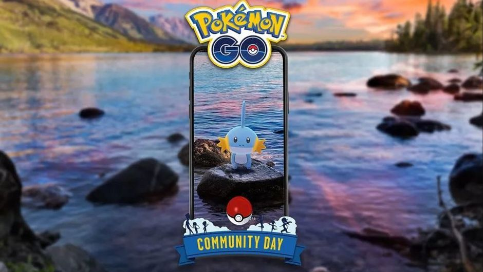 Picture of Mudkip the featured Pokemon for July 2019 Community Day