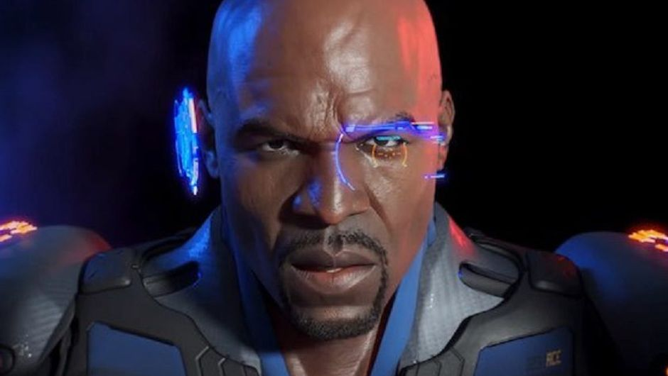 Terry Crews is posing for a picture in Crackdown 3
