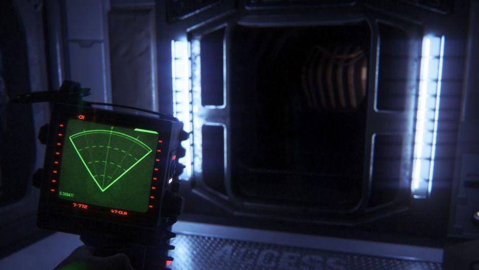 picture showing dark hallway and radar