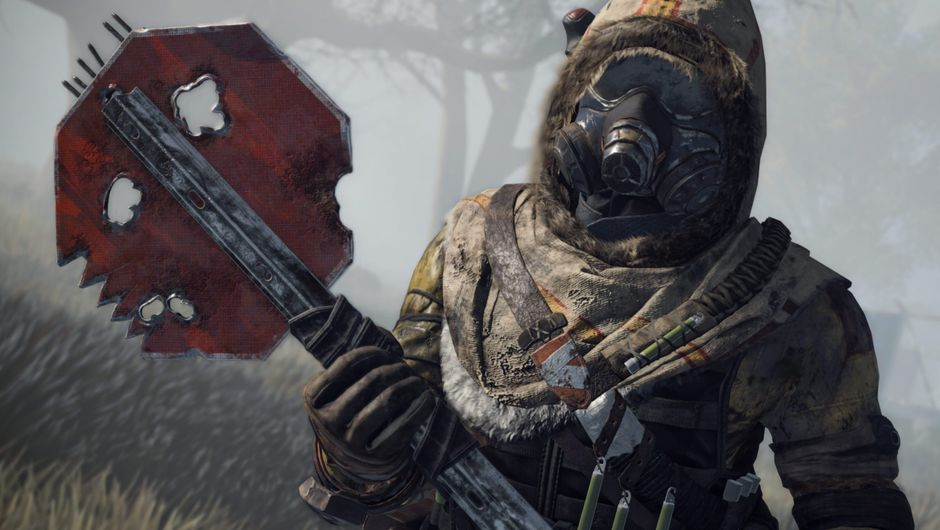 cod black ops 4 screenshot showing a character with a gas mask
