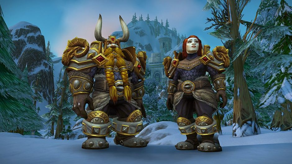 Picture of two dwarves in Heritage armour in World of Warcraft
