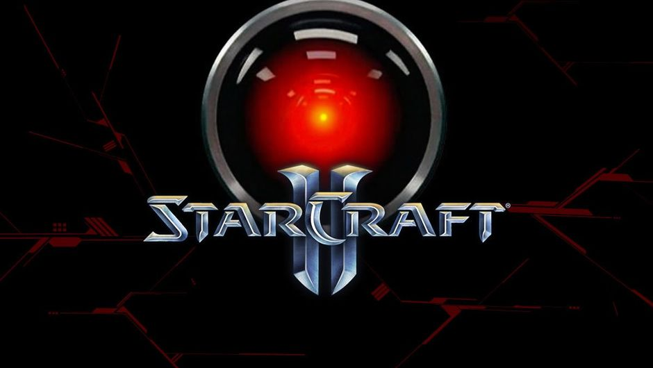 AI from 2001 Odyssey in Space with StarCraft 2 logo