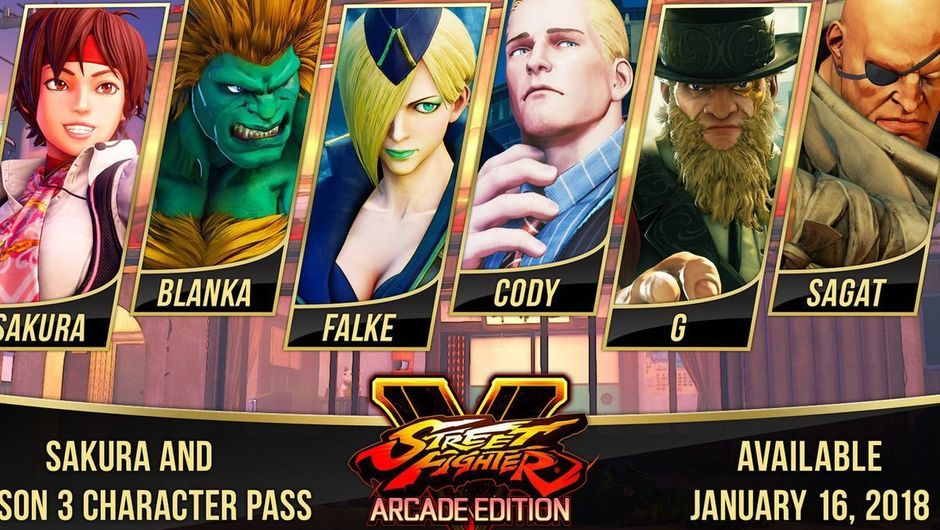 Street Fighter 5: Arcade Edition Roster