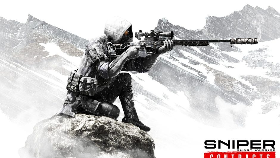 artwork showing a solider with sniper siting on a rock and aiming his rifle