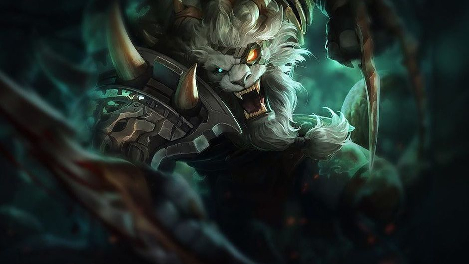 Picture of Rengar, a high burst champion in League of Legends