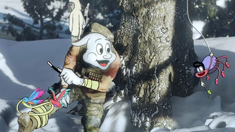 Screenshot showing ghost recon breakpoint with cartoon characters