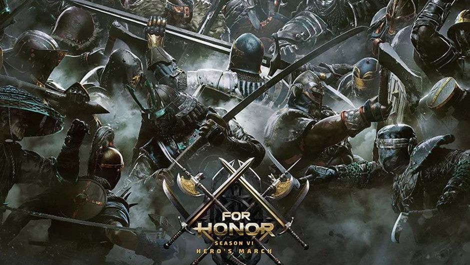 Promotional image for For Honor showing a massive clash of heroes