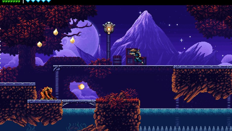 Picture of a ninja navigating platforms in The Messenger
