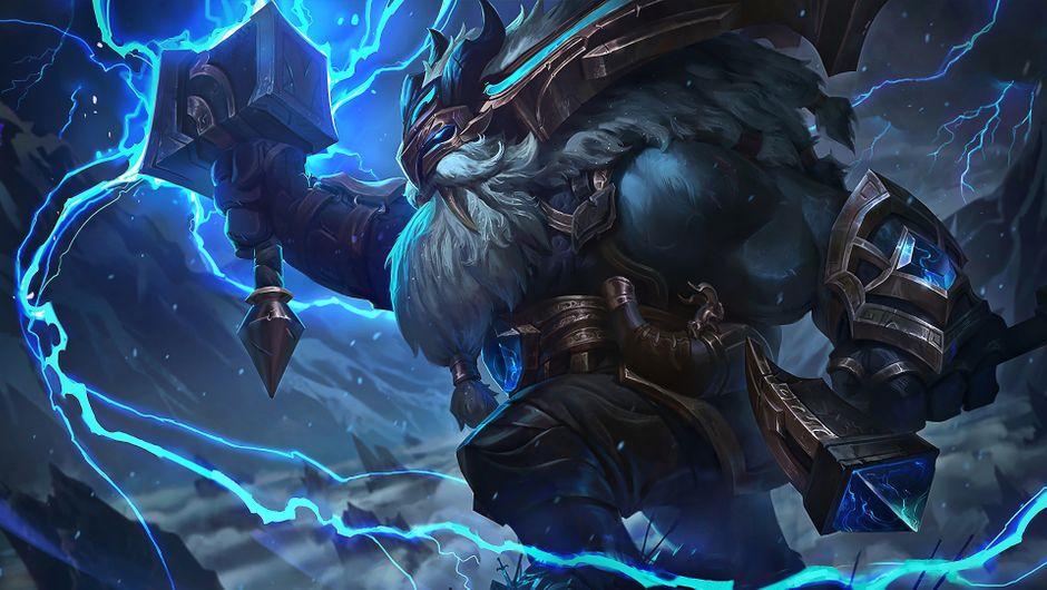 League of Legends champion Ornn Thunder Lord skin