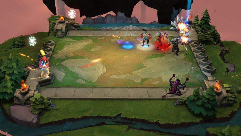 Screenshot from winning a Teamfight Tactics game