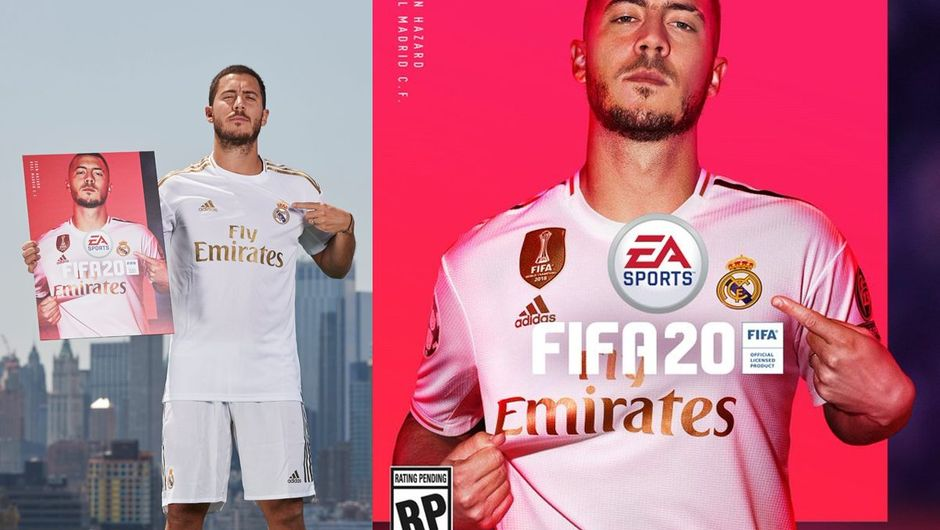 picture showing fifa 20 cover star eden hazard