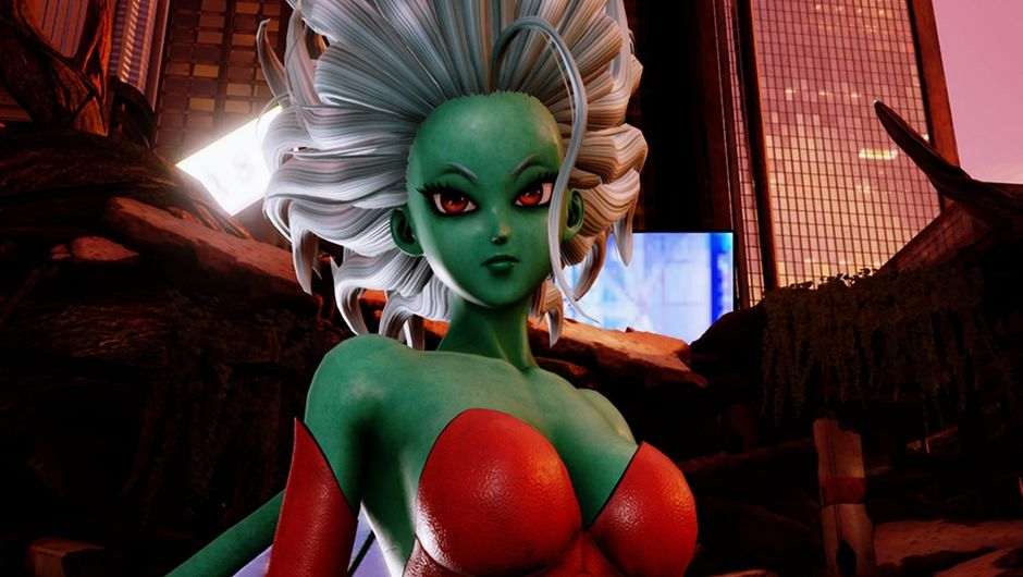Screenshot of Jump Force's original character, Galena.
