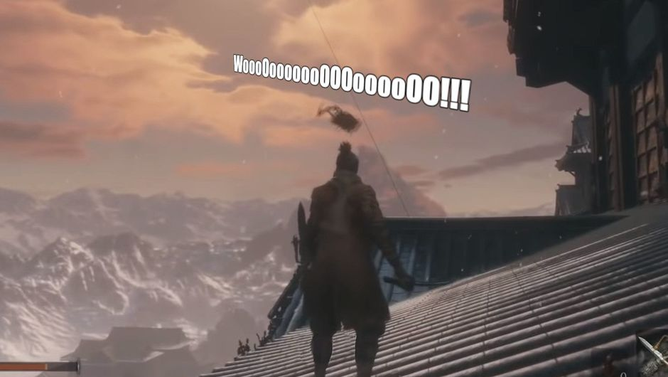 Picture of a flying enemy in Sekiro: Shadows Die Twice