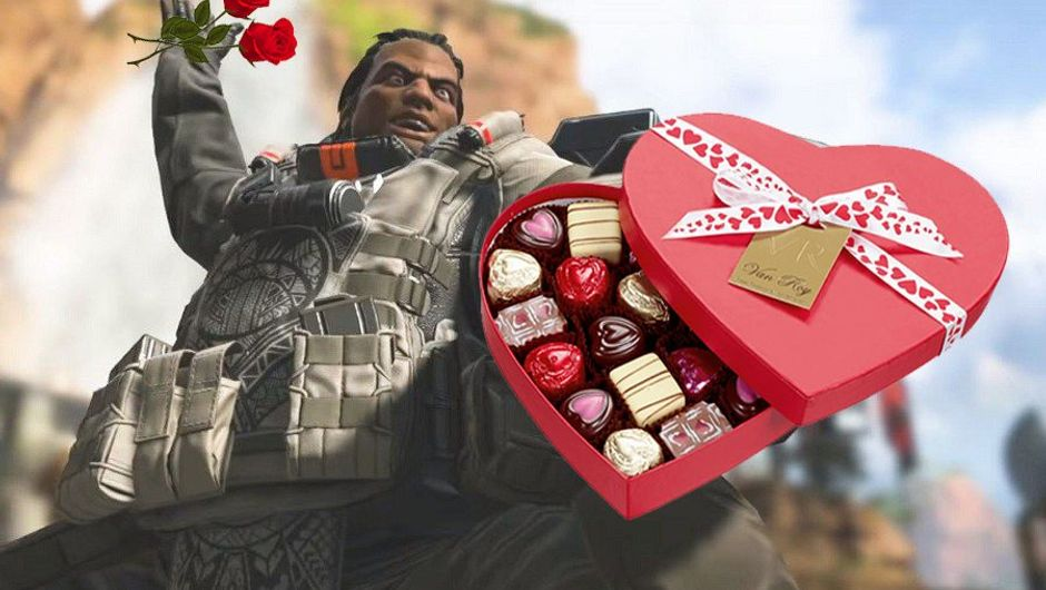 picture showing warrior holding roses and chocolate