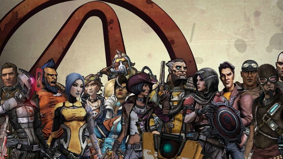 Picture of all the protagonists from the first thee Borderlands games
