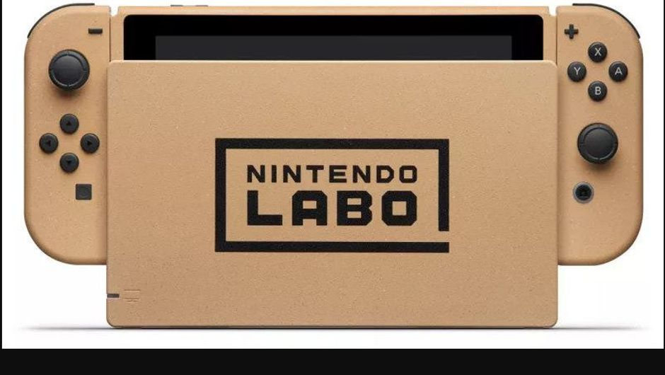Picture of a Nintendo Switch that is themed after Nintendo Labo