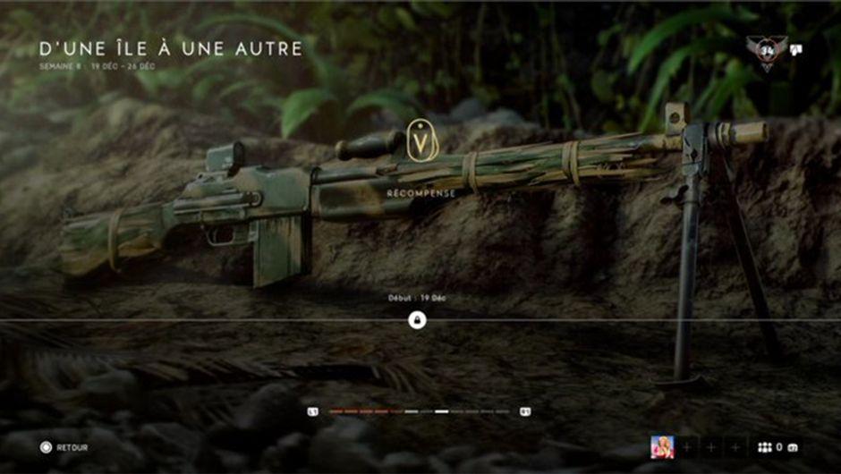 screenshot showing BAR LMG battlefield v