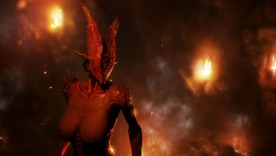 A titted succubus from Agony