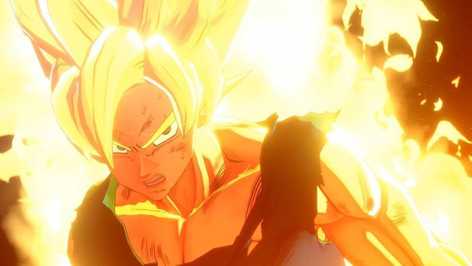 Goku in his Super Saiyan form in Dragon Ball Game: Project Z.
