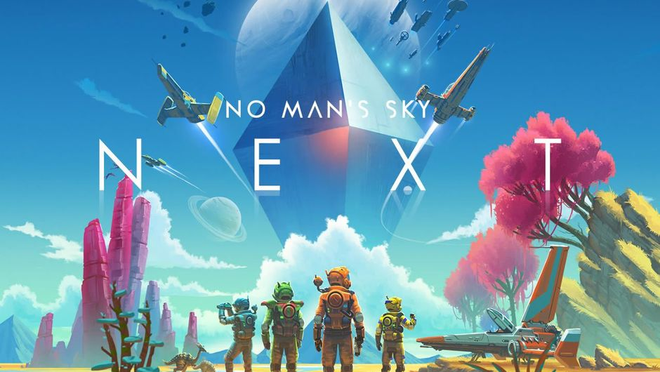 The promotional poster for Hello Games' No Man's Sky Next