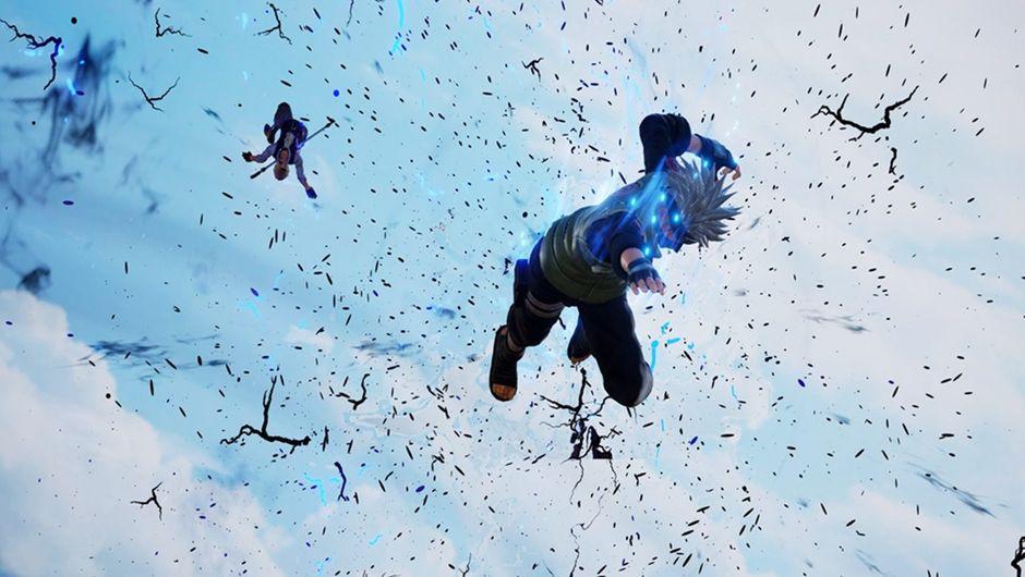 Kakashi Hatake piercing through an opponent in Jump Force.